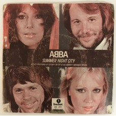 Abba Summer Night City 45 lik (Türk Baskı)