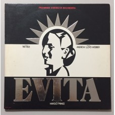 Andrew Lloyd Webber And Tim Rice Evita Premiere American Recording Lp